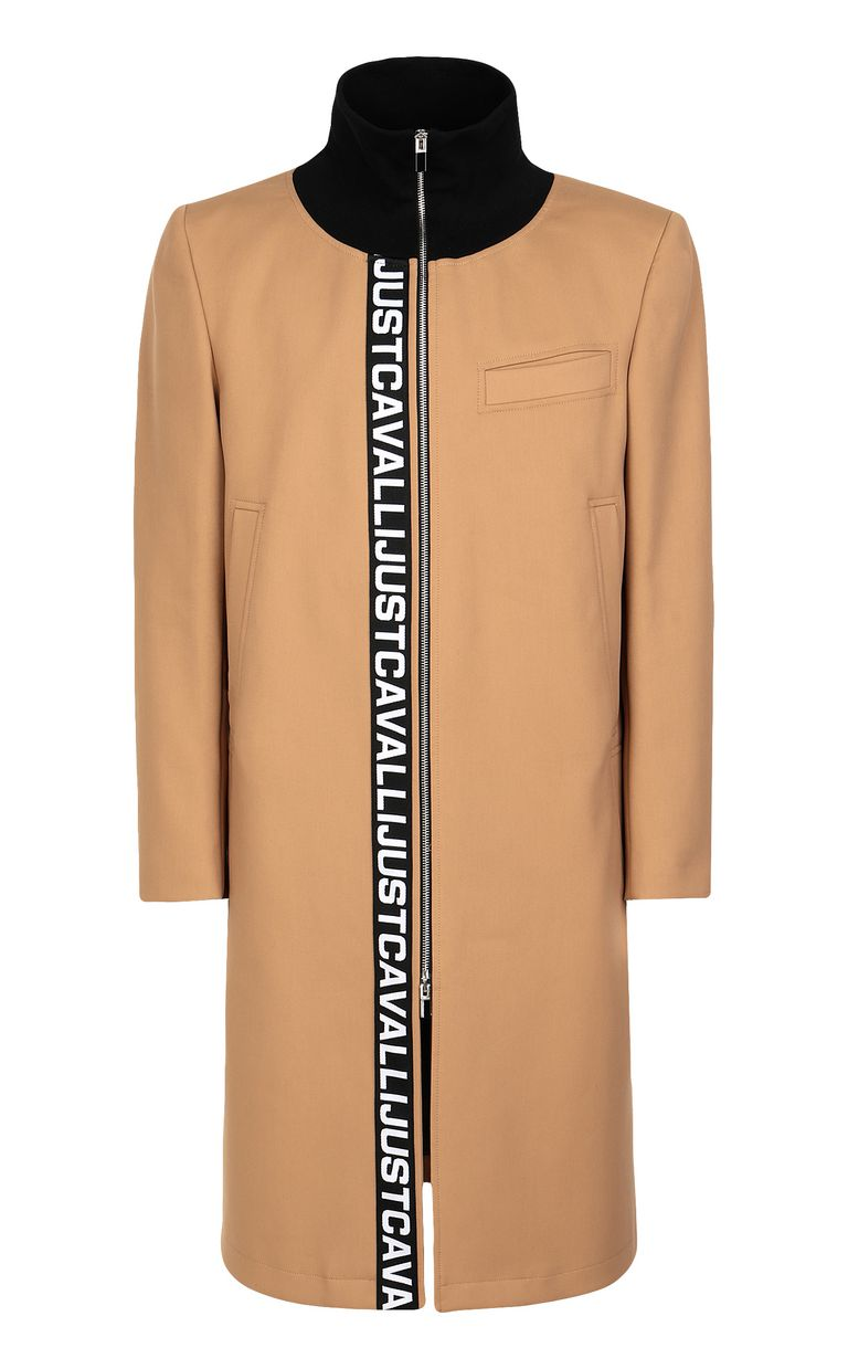 JUST CAVALLI Coat with logoed band Coat Man f