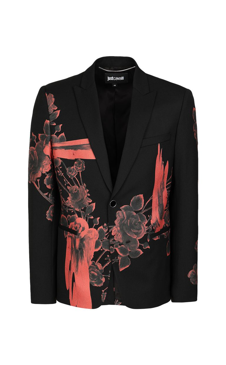 JUST CAVALLI Jacket with Moving Roses pattern Blazer Man f