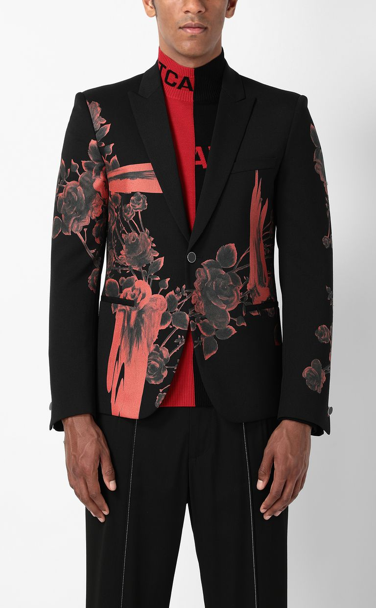 JUST CAVALLI Jacket with Moving Roses pattern Blazer Man r