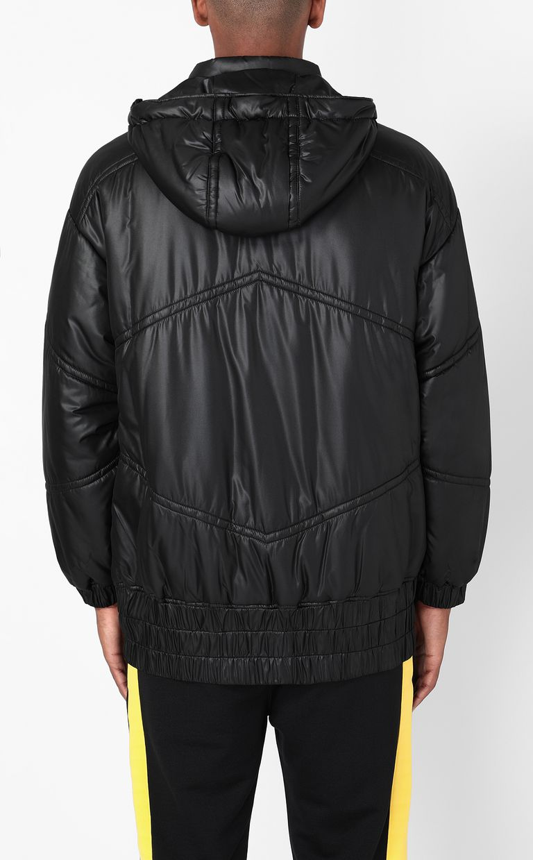 JUST CAVALLI Jacket with logoed band Down jacket Man a