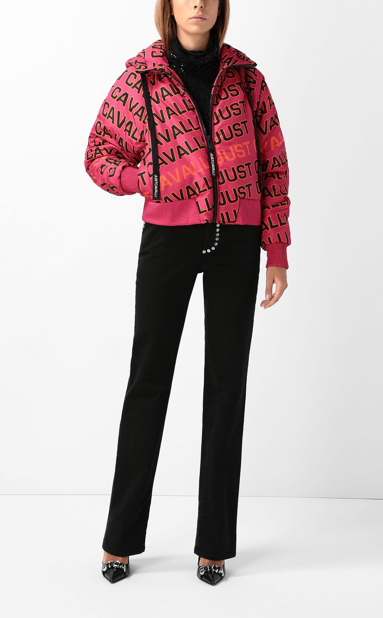 JUST CAVALLI Padded jacket with logo Down jacket Woman d
