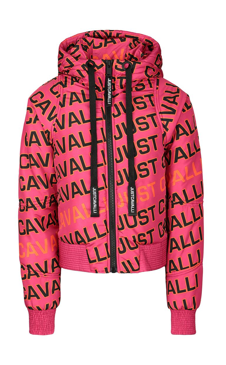 JUST CAVALLI Padded jacket with logo Down jacket Woman f