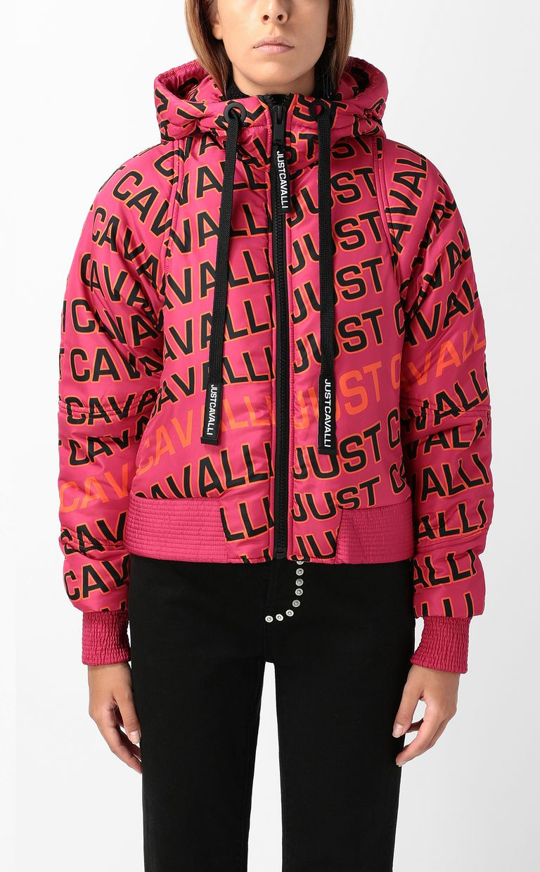 JUST CAVALLI Padded jacket with logo Down jacket Woman r