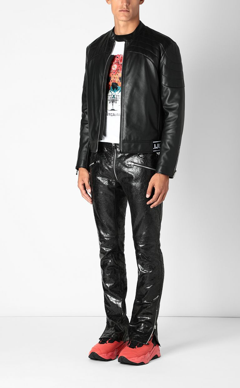 JUST CAVALLI Leather jacket Leather Jacket Man d