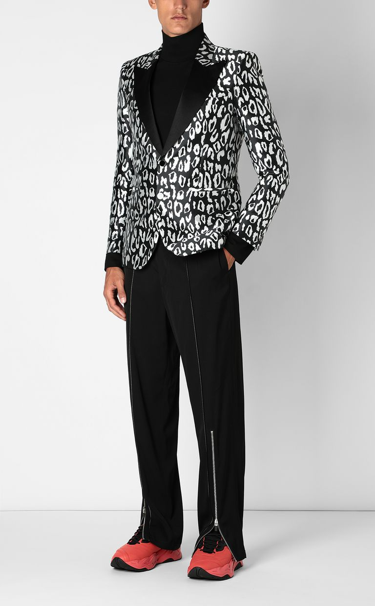JUST CAVALLI Jacket with leopard-spot pattern Blazer Man d