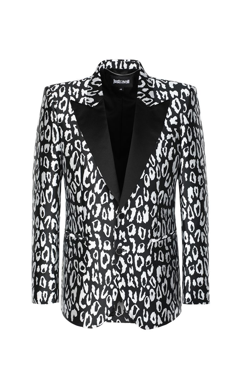 JUST CAVALLI Jacket with leopard-spot pattern Blazer Man f