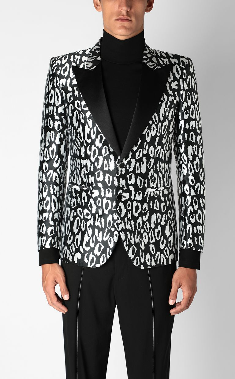 JUST CAVALLI Jacket with leopard-spot pattern Blazer Man r