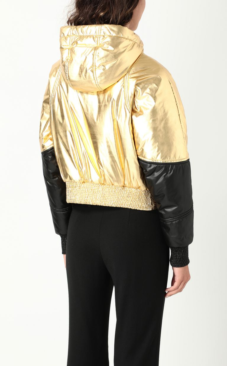 JUST CAVALLI Gold-tone short padded jacket Down jacket Woman a