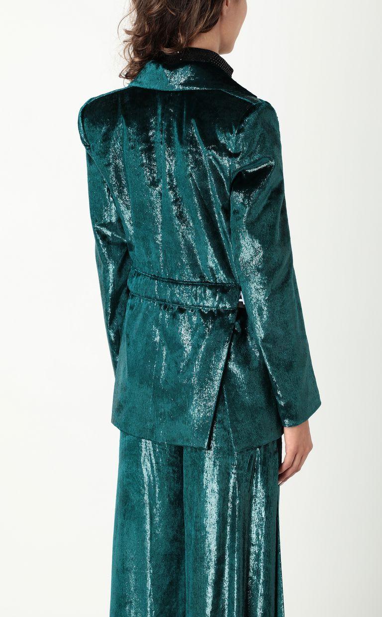 JUST CAVALLI Wet-velvet jacket with tape detail Blazer Woman a