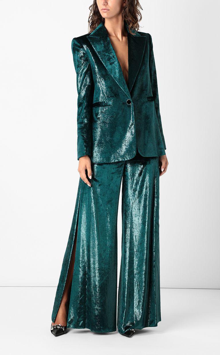 JUST CAVALLI Wet-velvet jacket with tape detail Blazer Woman d