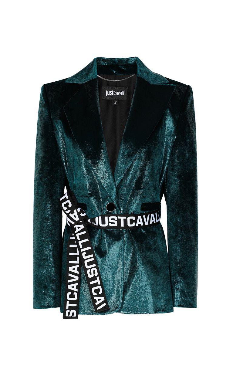 JUST CAVALLI Wet-velvet jacket with tape detail Blazer Woman f