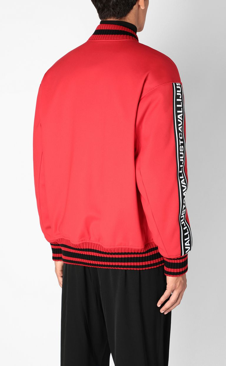 JUST CAVALLI Bomber jacket with logoed tape Jacket Man a