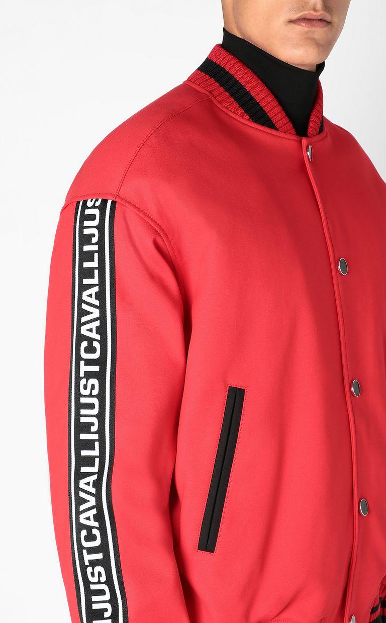 JUST CAVALLI Bomber jacket with logoed tape Jacket Man e