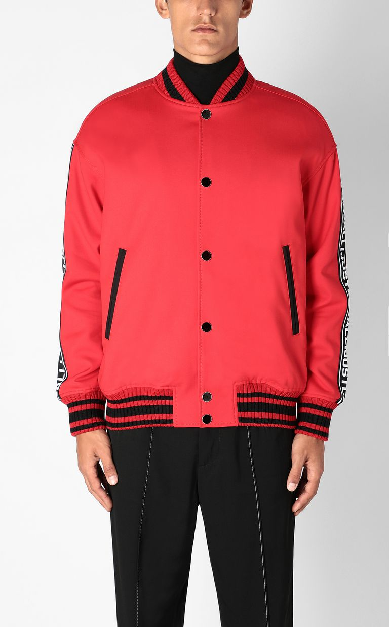JUST CAVALLI Bomber jacket with logoed tape Jacket Man r