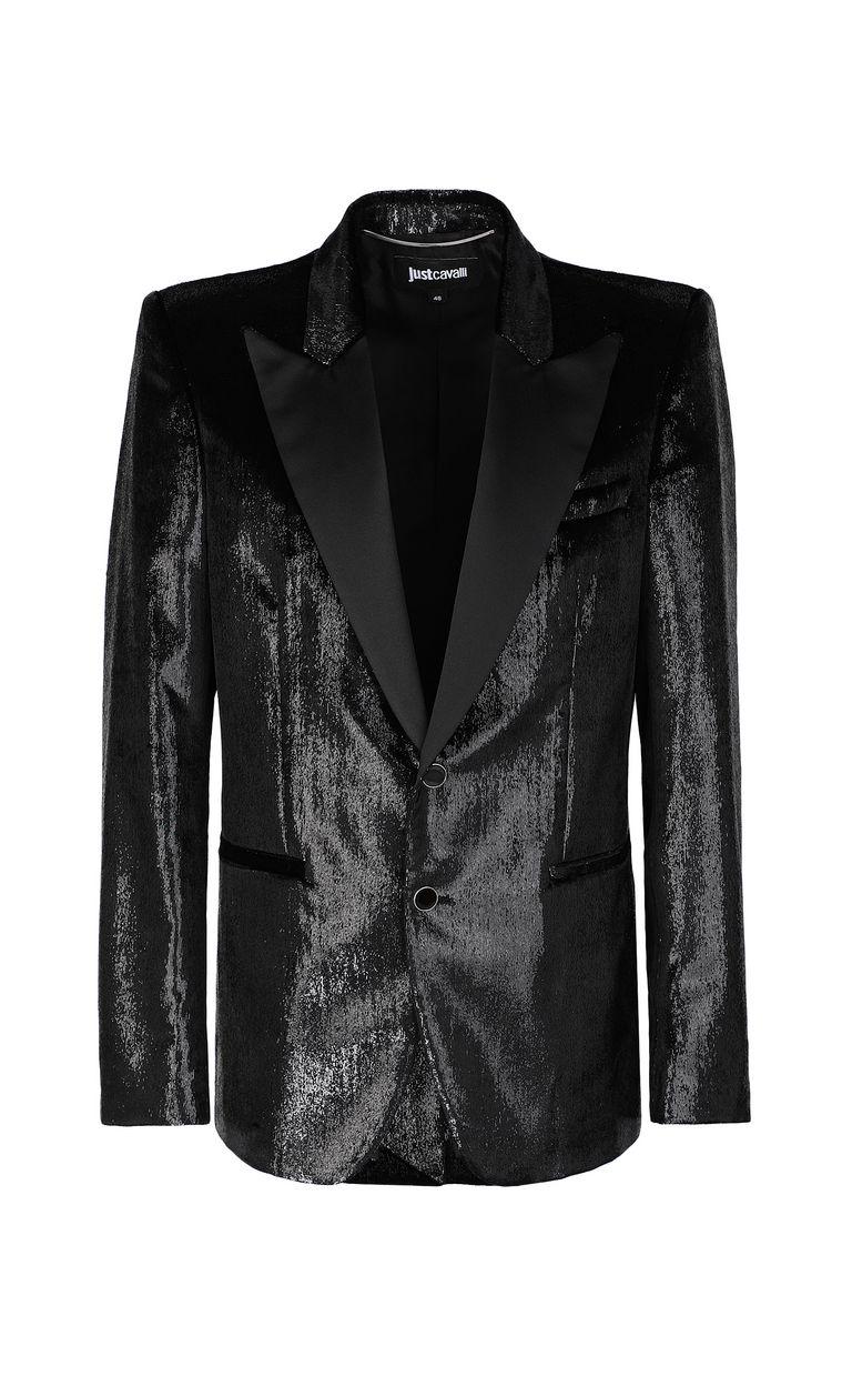 JUST CAVALLI Elegant velvety blazer Denim Jacket Man f