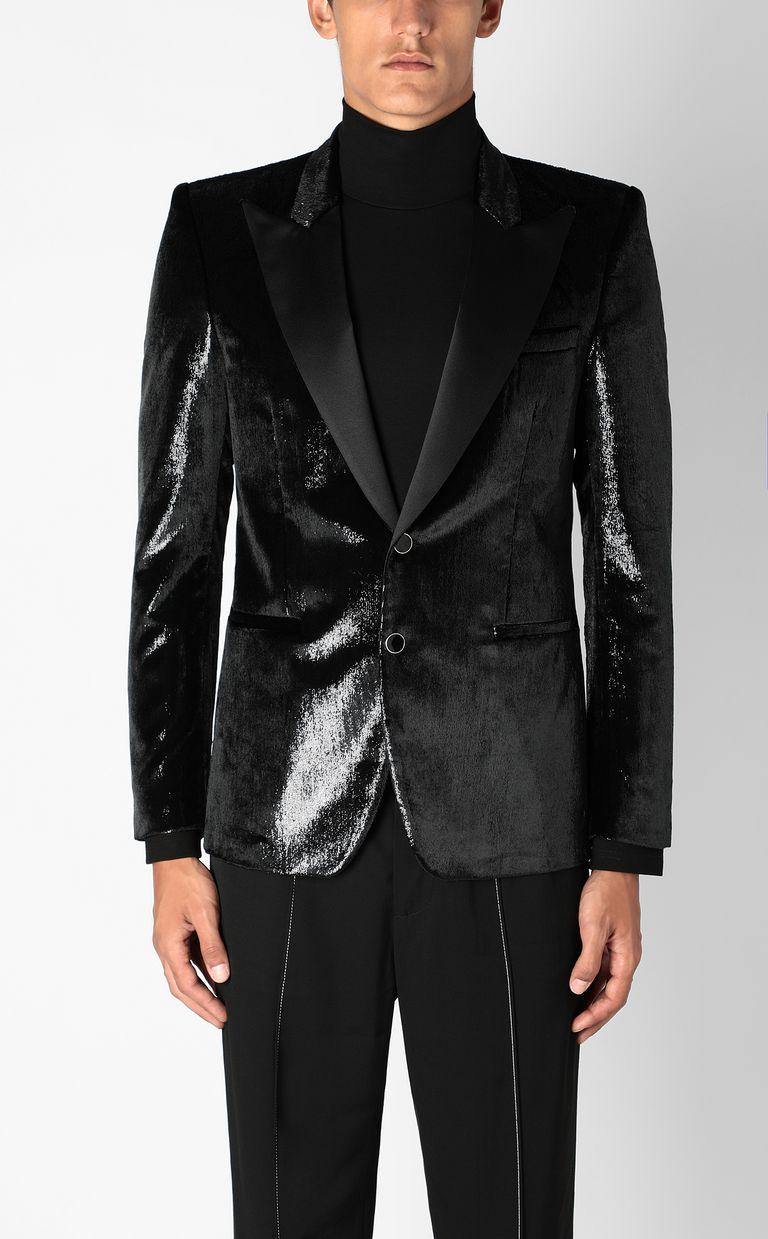 JUST CAVALLI Elegant velvety blazer Denim Jacket Man r