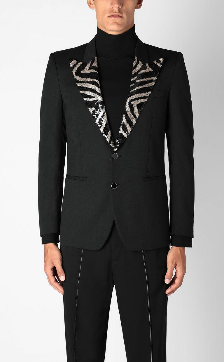 JUST CAVALLI Elegant jacket with sequins Blazer Man r