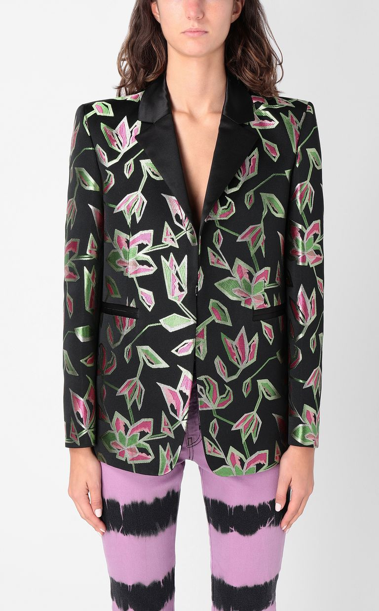 JUST CAVALLI Floral-patterned jacquard jacket Blazer Woman r