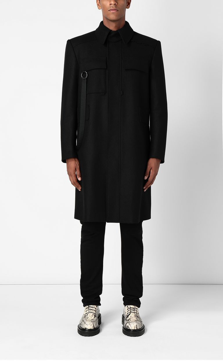 JUST CAVALLI Coat with chains Coat Man r