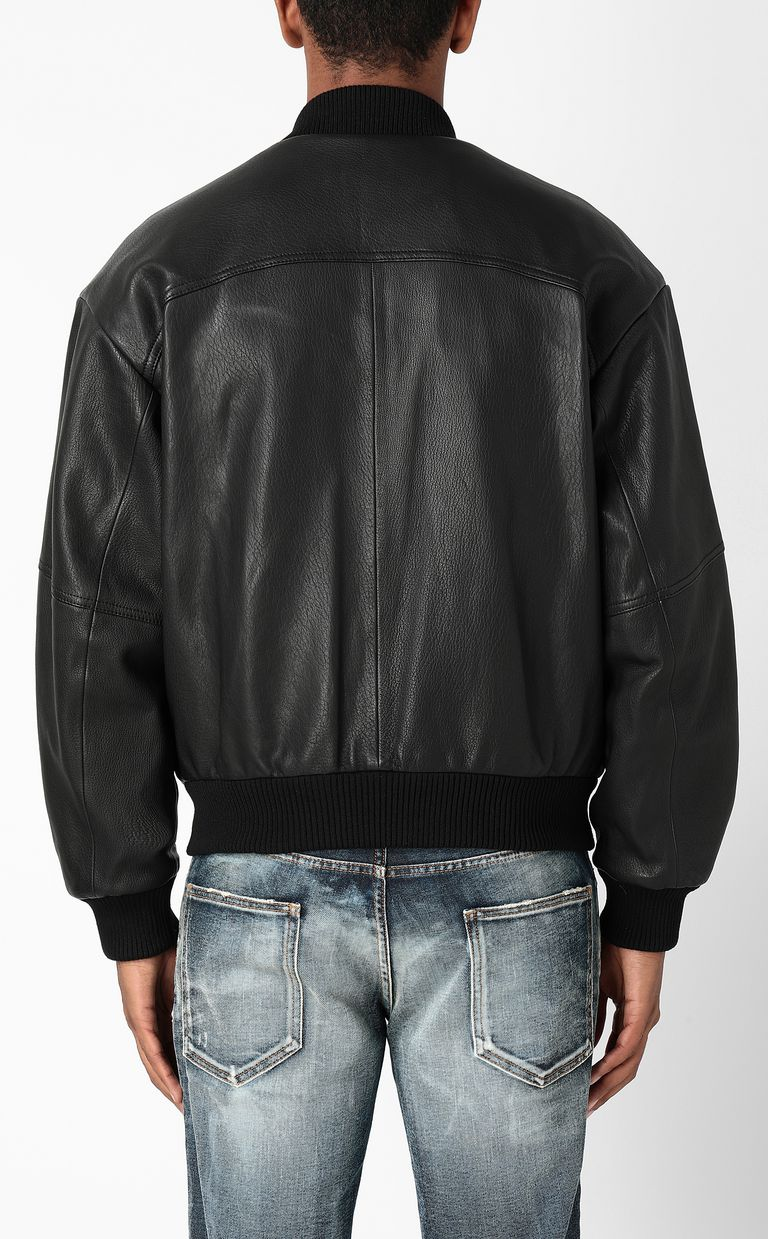 JUST CAVALLI Leather bomber jacket Leather Jacket Man a