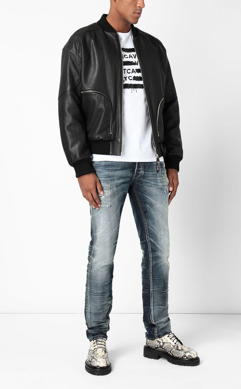 JUST CAVALLI Leather bomber jacket Leather Jacket Man d