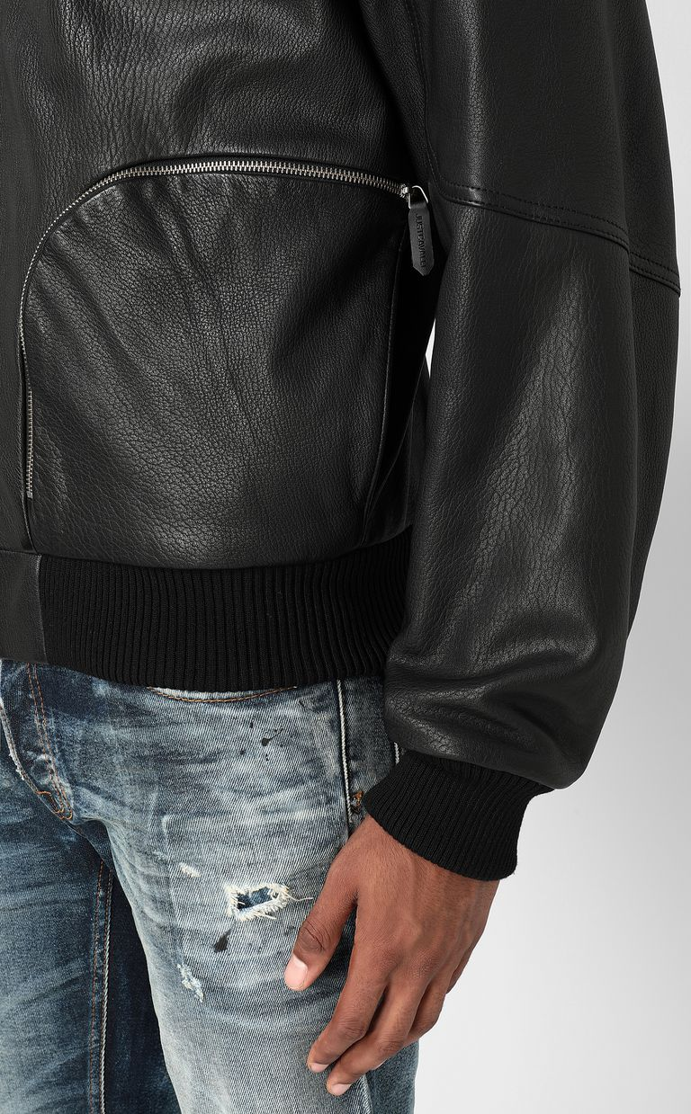 JUST CAVALLI Leather bomber jacket Leather Jacket Man e