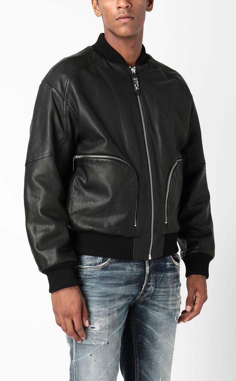 JUST CAVALLI Leather bomber jacket Leather Jacket Man r