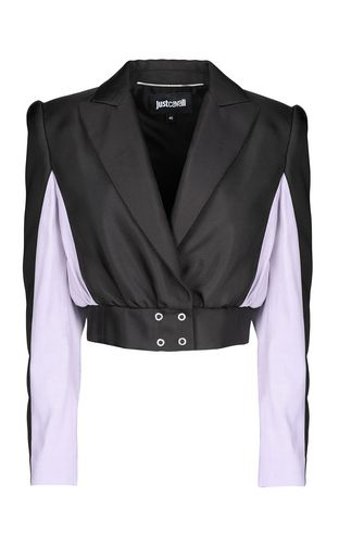 JUST CAVALLI Leather Jacket Woman Biker-style leather jacket f