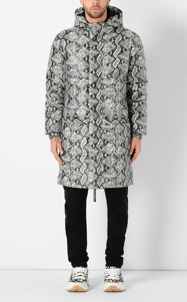 JUST CAVALLI Padded python-print jacket Down jacket Man r