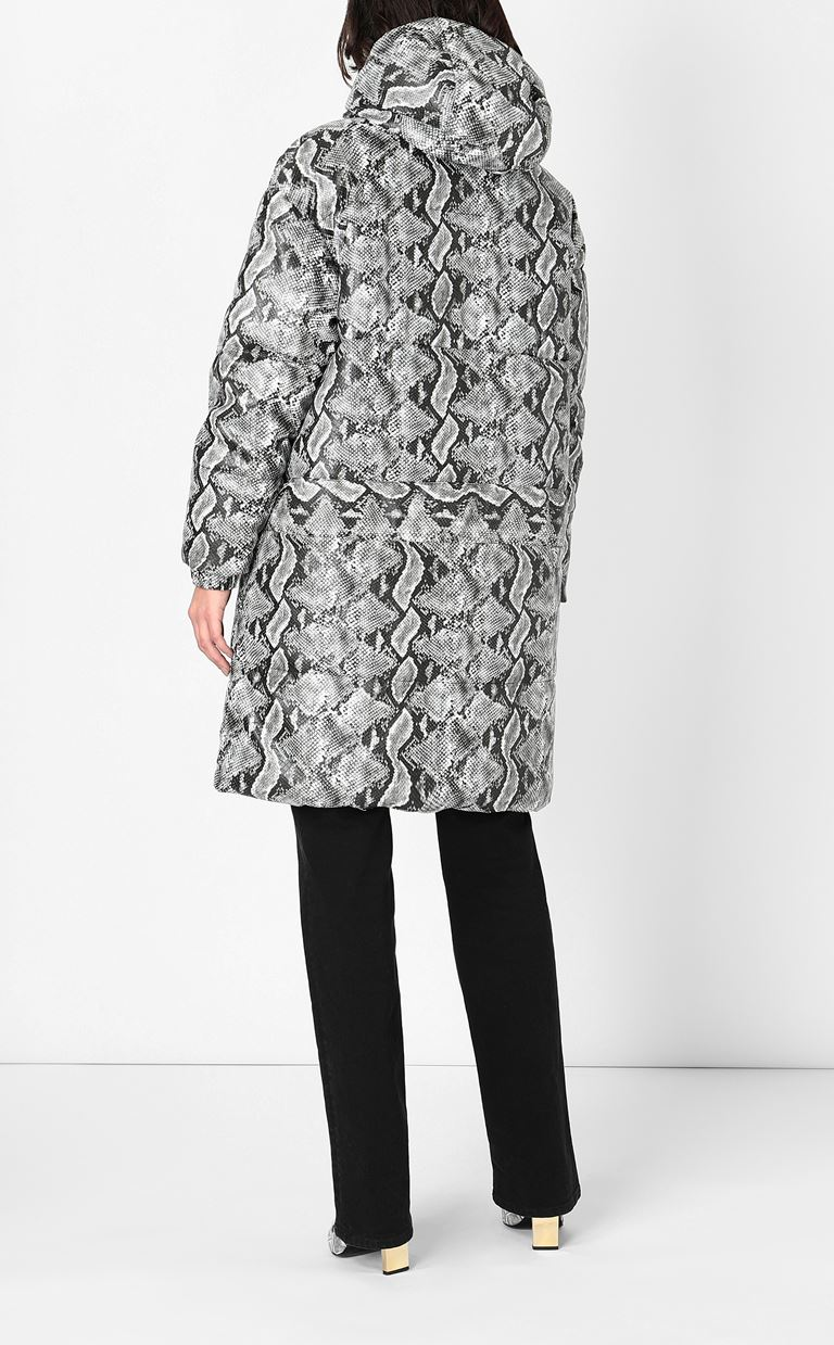 JUST CAVALLI Padded python-print jacket Down jacket Woman a