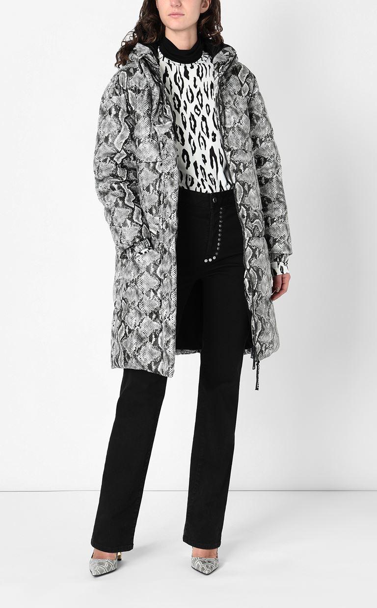 JUST CAVALLI Padded python-print jacket Down jacket Woman d