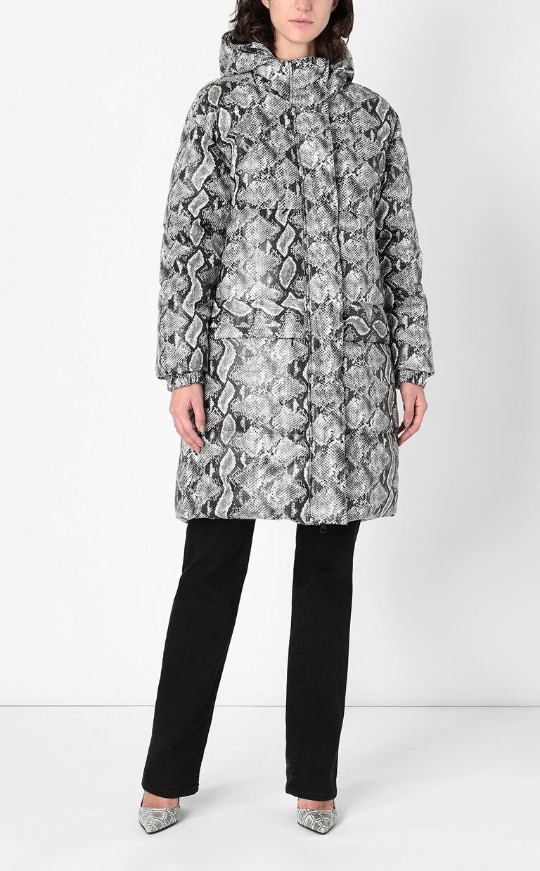 JUST CAVALLI Padded python-print jacket Down jacket Woman r