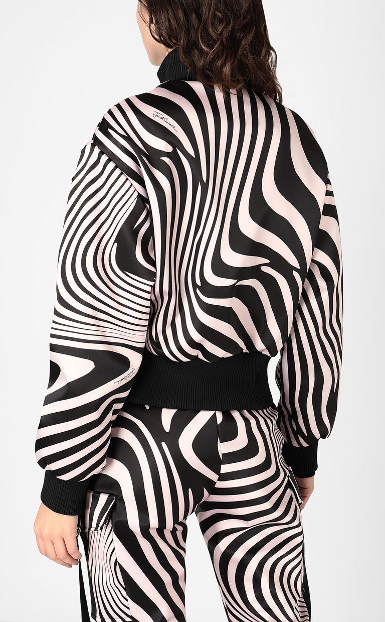 JUST CAVALLI Zebra-Waves-print bomber jacket. Jacket Woman a
