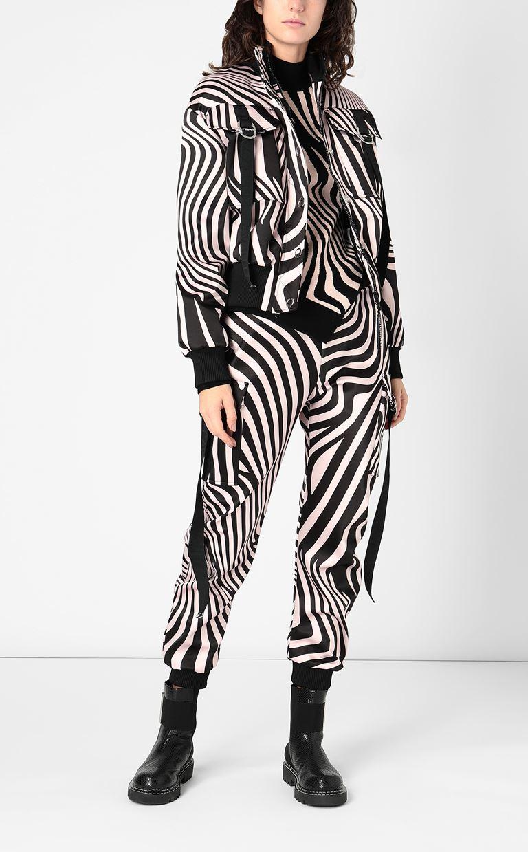 JUST CAVALLI Zebra-Waves-print bomber jacket. Jacket Woman d