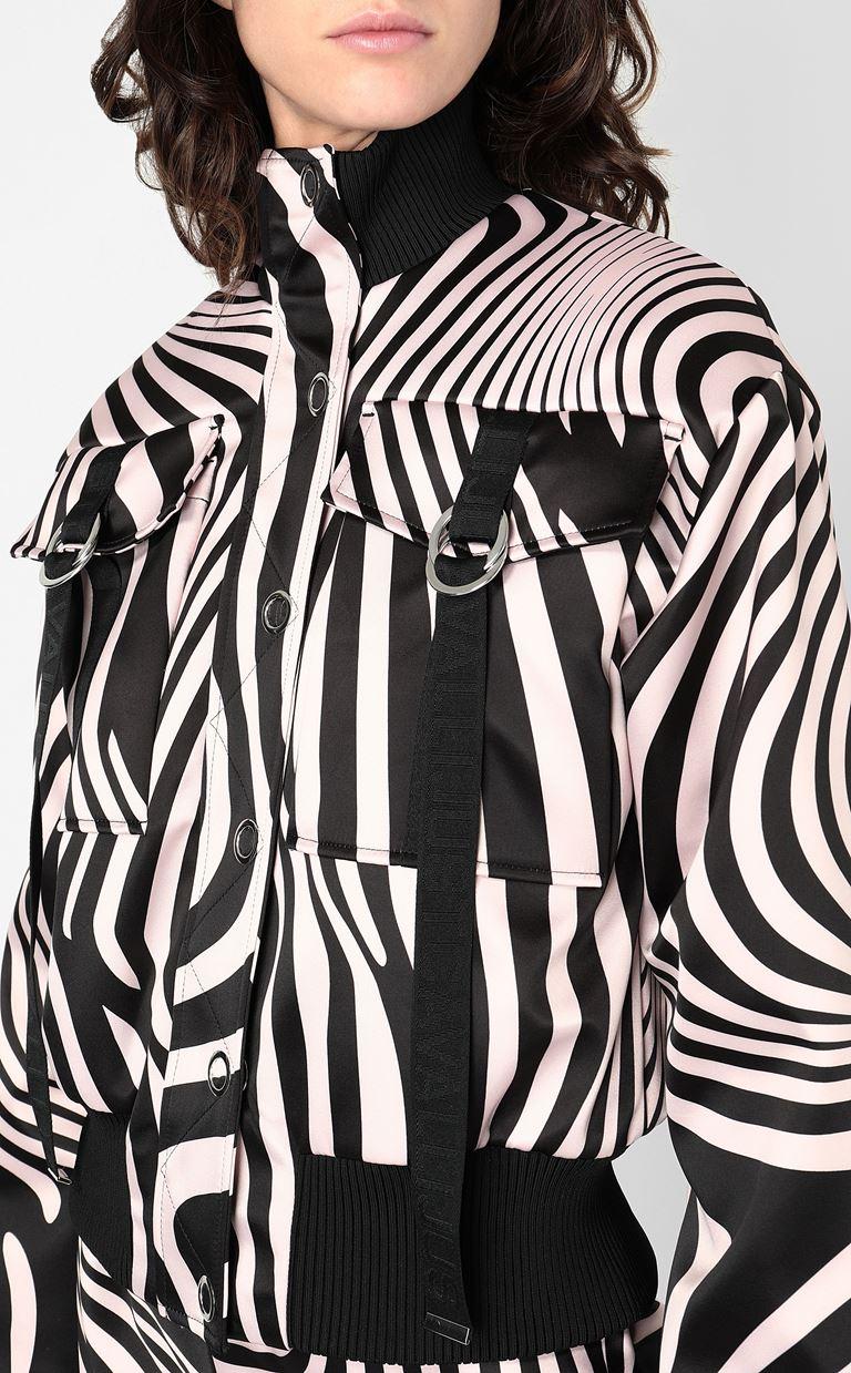 JUST CAVALLI Zebra-Waves-print bomber jacket. Jacket Woman e