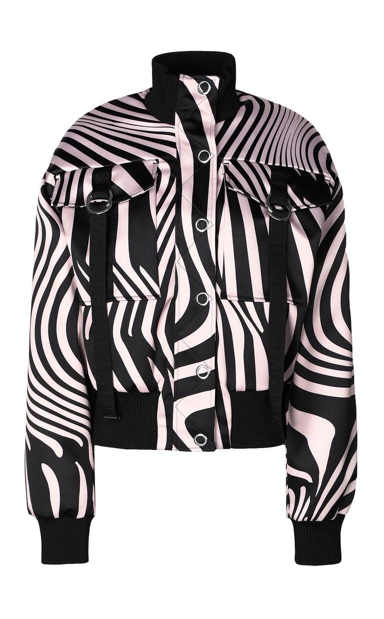 JUST CAVALLI Zebra-Waves-print bomber jacket. Jacket Woman f