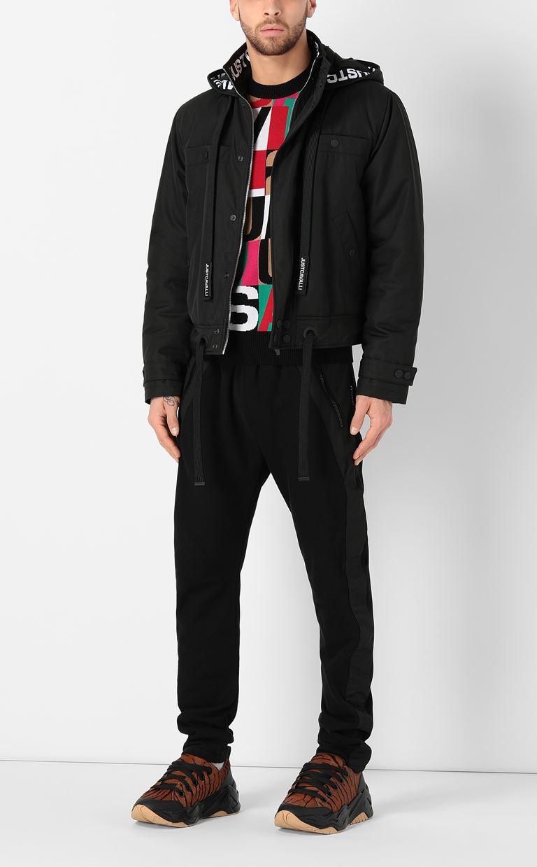 JUST CAVALLI Sporty jacket with hood Raincoat Man d
