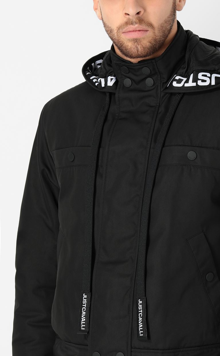 JUST CAVALLI Sporty jacket with hood Raincoat Man e