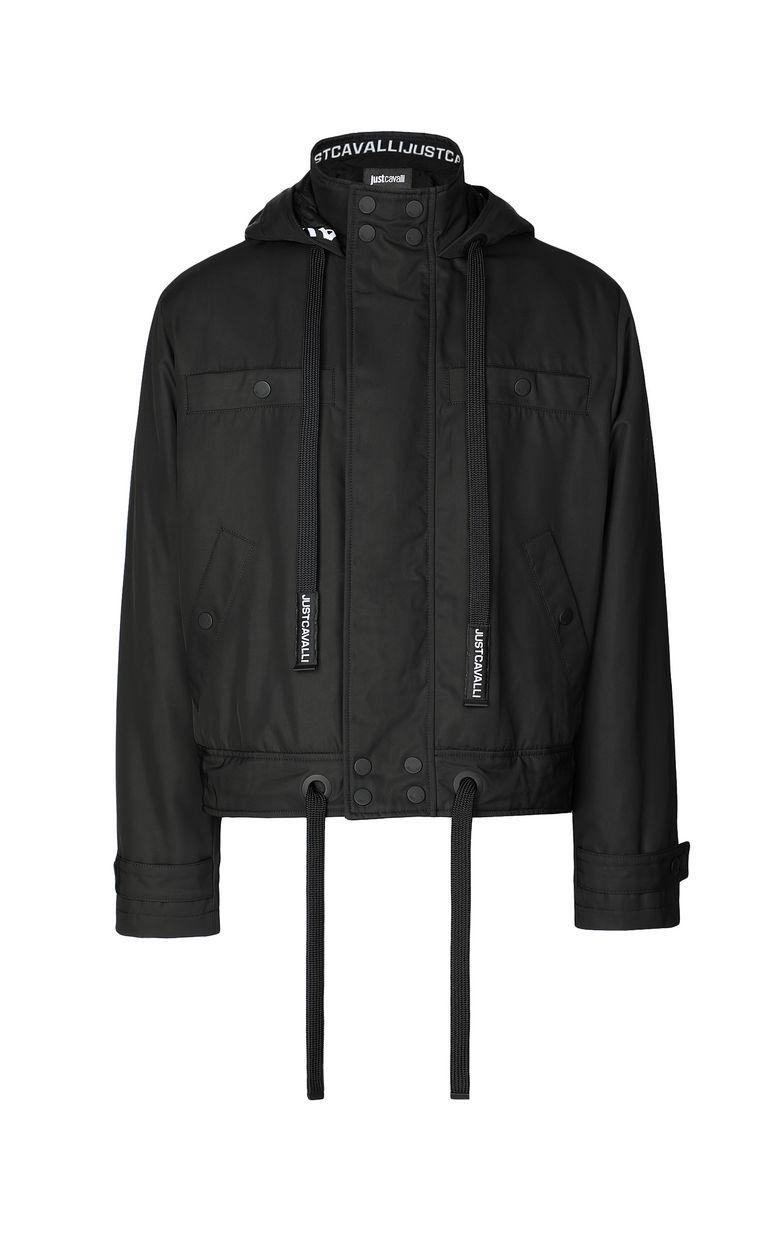 JUST CAVALLI Sporty jacket with hood Raincoat Man f