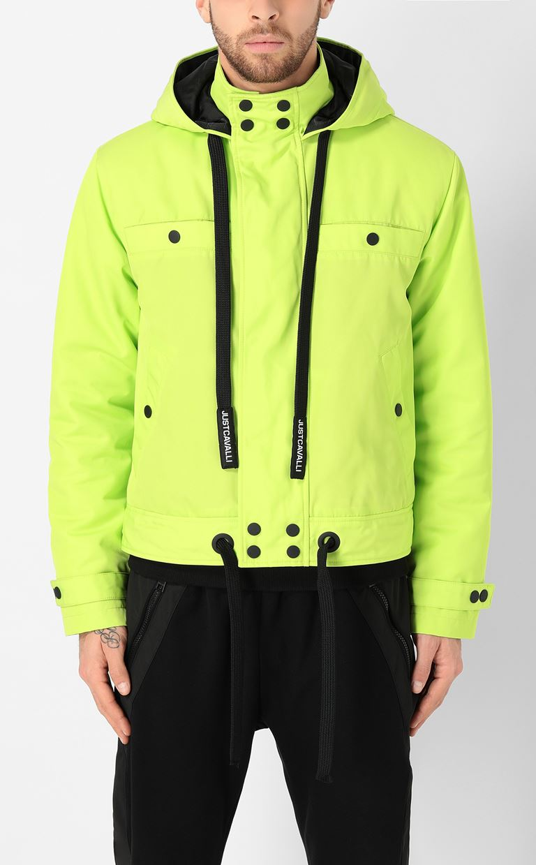 JUST CAVALLI Sporty jacket with hood Raincoat Man r