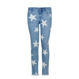 Jeans Boyfriend Skinny con Stelle