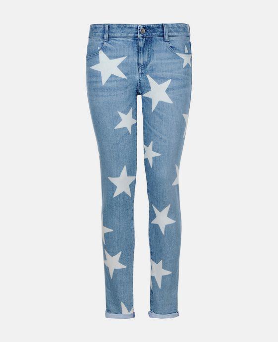 Skinny Boyfriend Fringed Stars Jeans