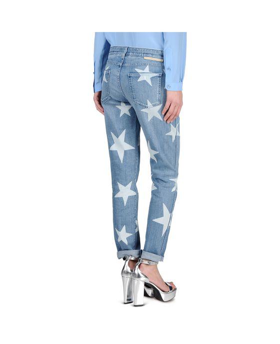 STELLA McCARTNEY Skinny Boyfriend Fringed Stars Jeans Boyfriend D i