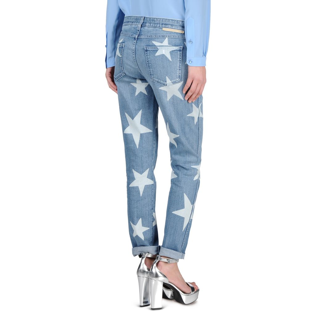 Skinny Boyfriend Fringed Stars Jeans - STELLA MCCARTNEY