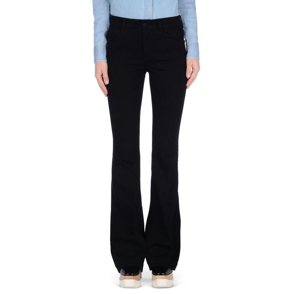 pantalon pattes d 39 l phant noir asphalte ann es 70 stella mccartney. Black Bedroom Furniture Sets. Home Design Ideas