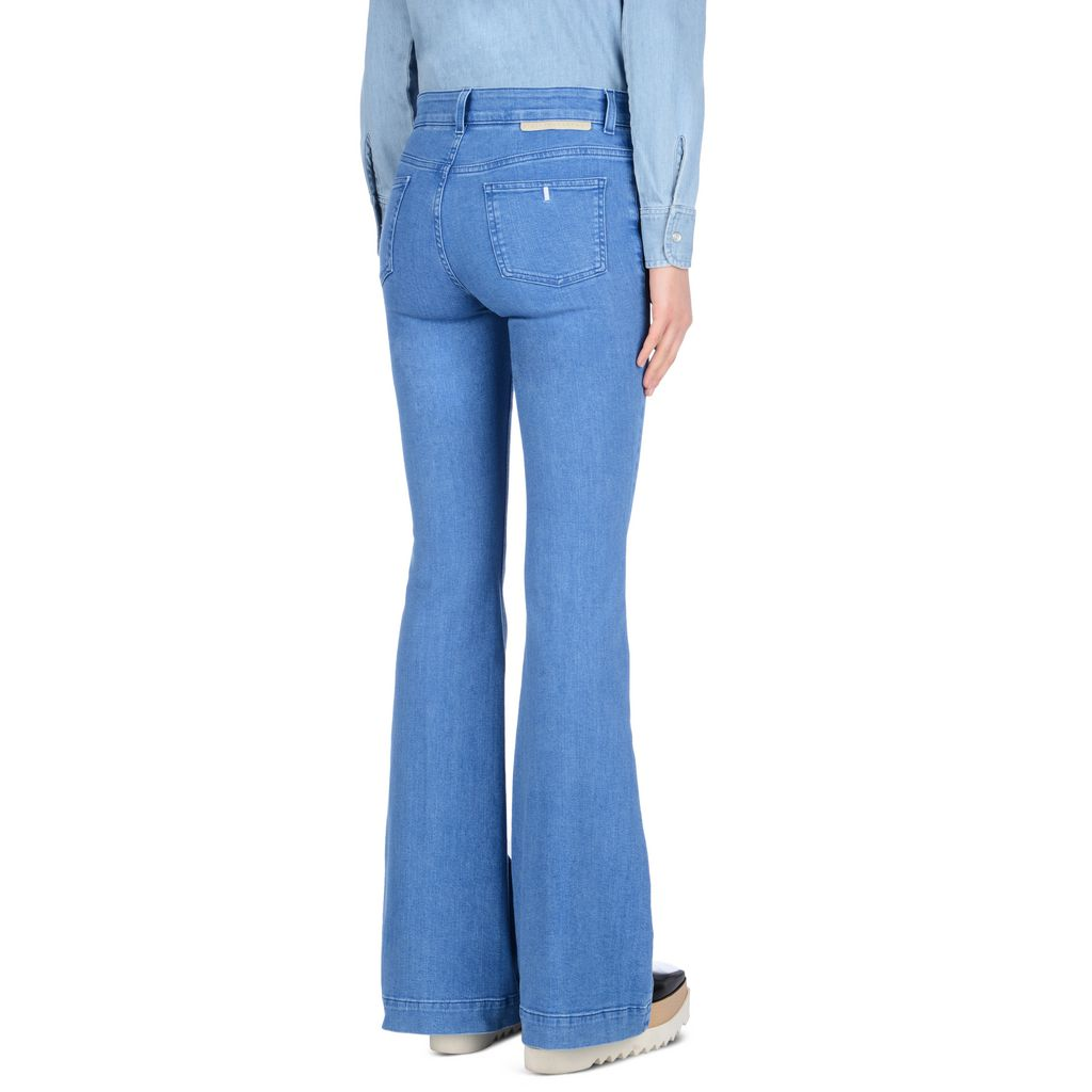 Supreme Blue 70's Flare - STELLA MCCARTNEY