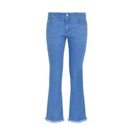 STELLA McCARTNEY Cropped D Ultra Blue Skinny Kick Jeans f