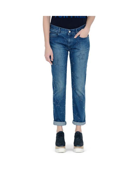 STELLA McCARTNEY Fringed Stars Boyfriend Jeans Boyfriend D i