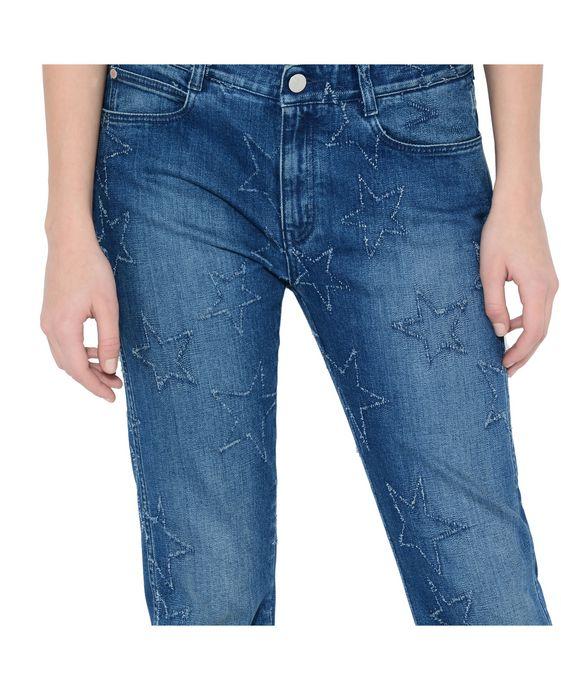 STELLA McCARTNEY Fringed Stars Boyfriend Jeans Boyfriend D p