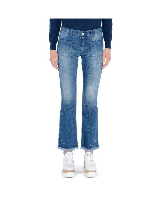 STELLA McCARTNEY Fringed Stars Skinny Kick Jeans Skinny Leg D i
